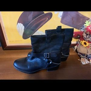 Franco sarto black womens beacon boots booties 7.5